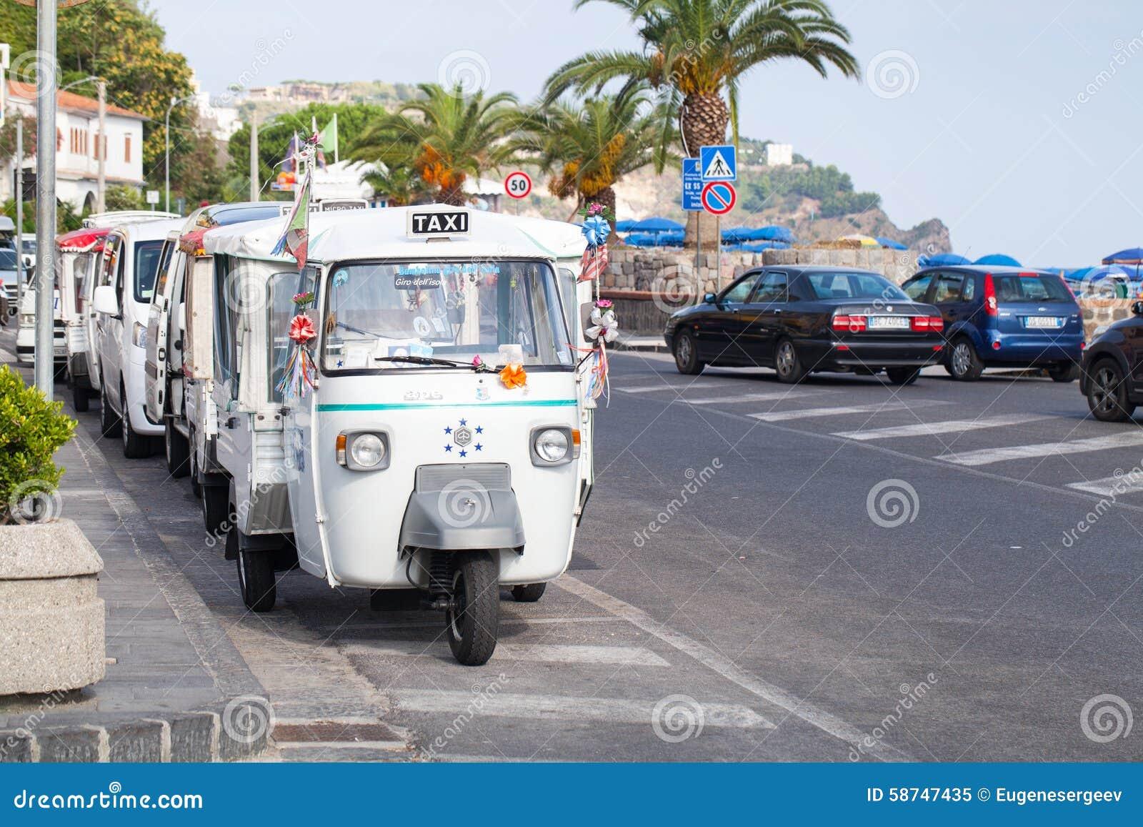 Casamicciola Terme Italy  city photos : Casamicciola Terme, Italy August 12, 2015: Micro taxi stand parked ...