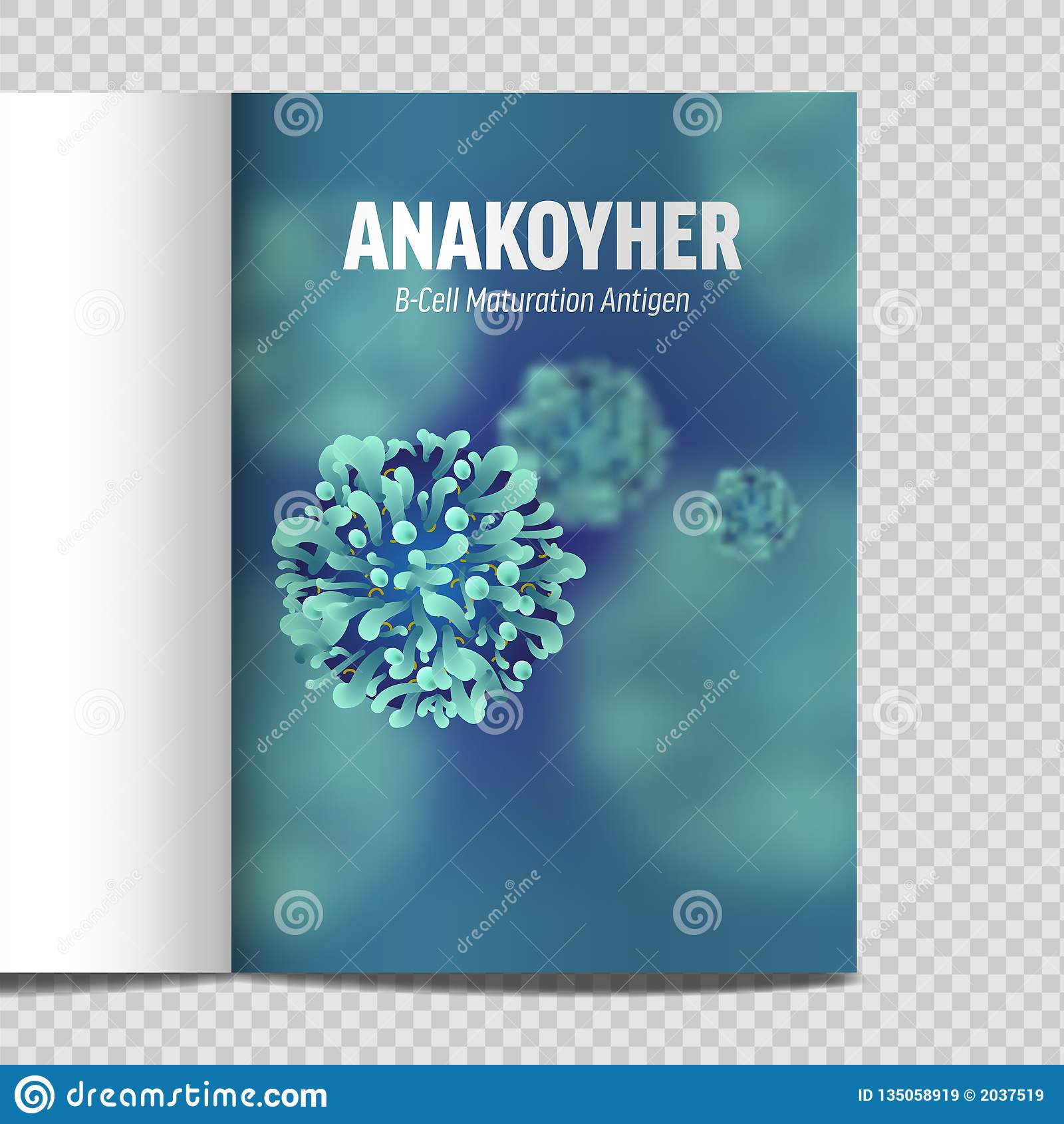 Microbiologia e virus del catalogo A4 3d microscopico