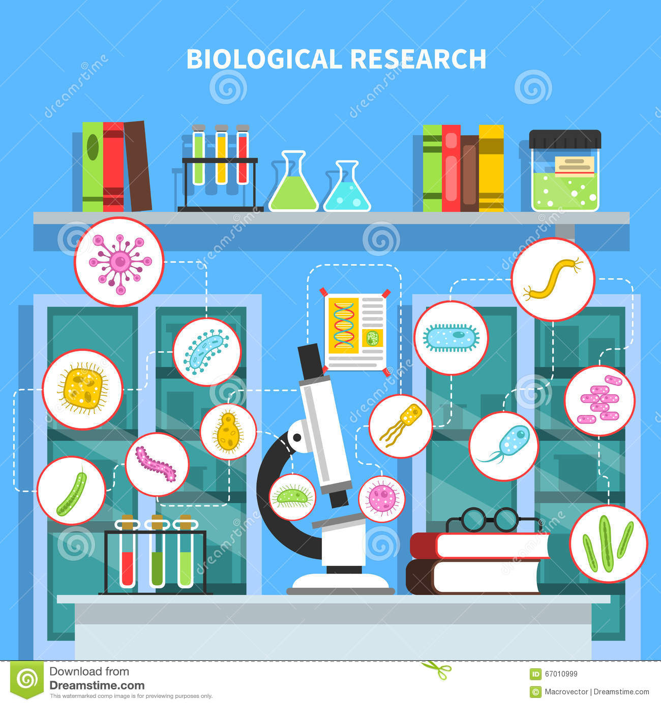 Microbiology Concept Illustration Stock Vector - Image ...