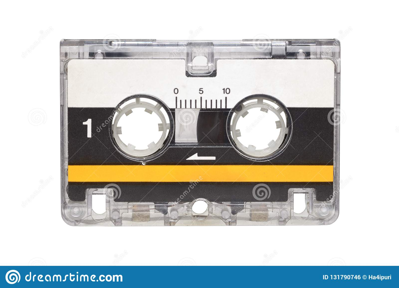 Microcassette isolated on white background