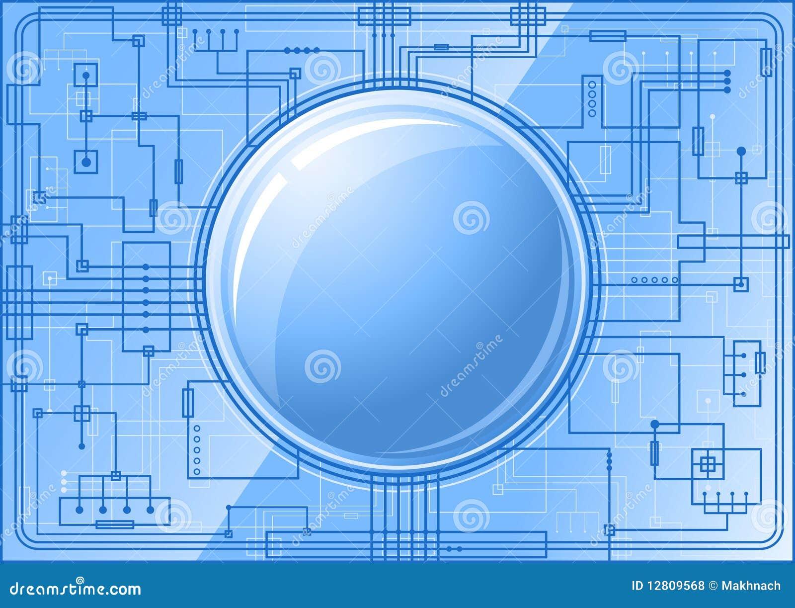 Microchip azul com tecla