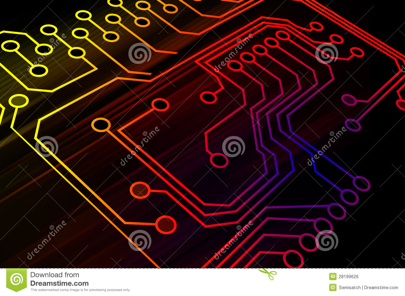 Microchip Background Royalty Free Stock Image - Image: 28199626