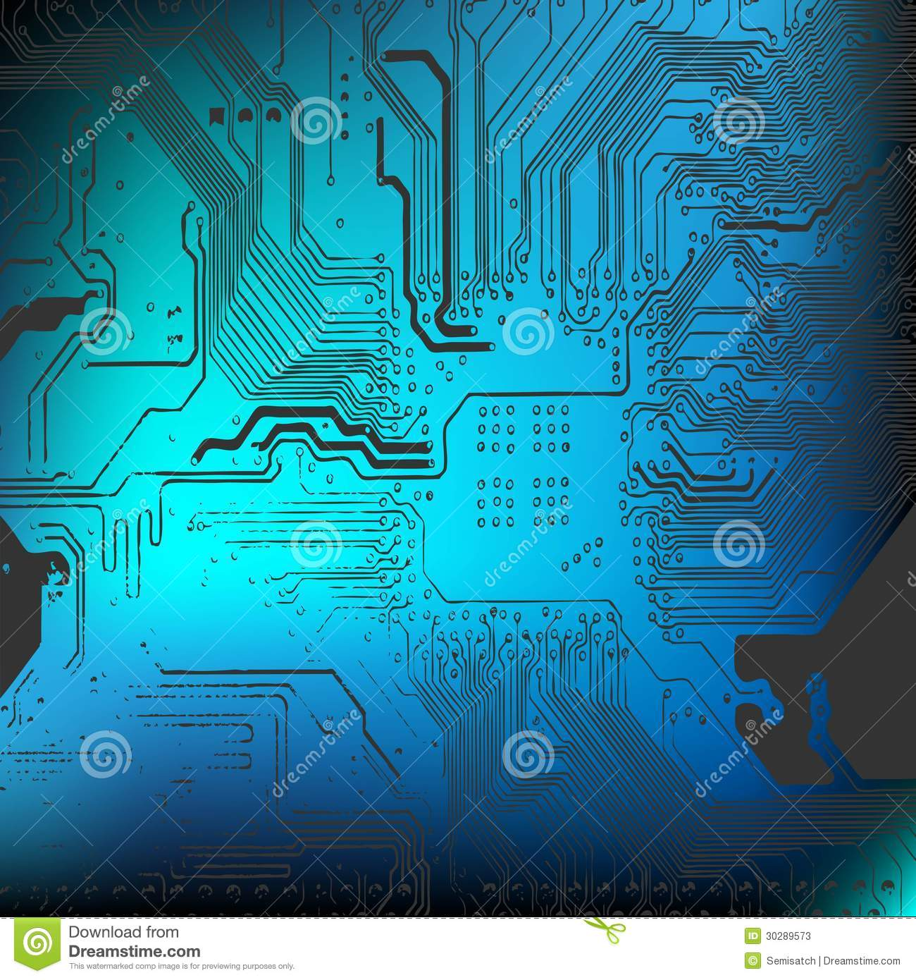 Microchip Background - Close-up Of Electronic Board Stock ...