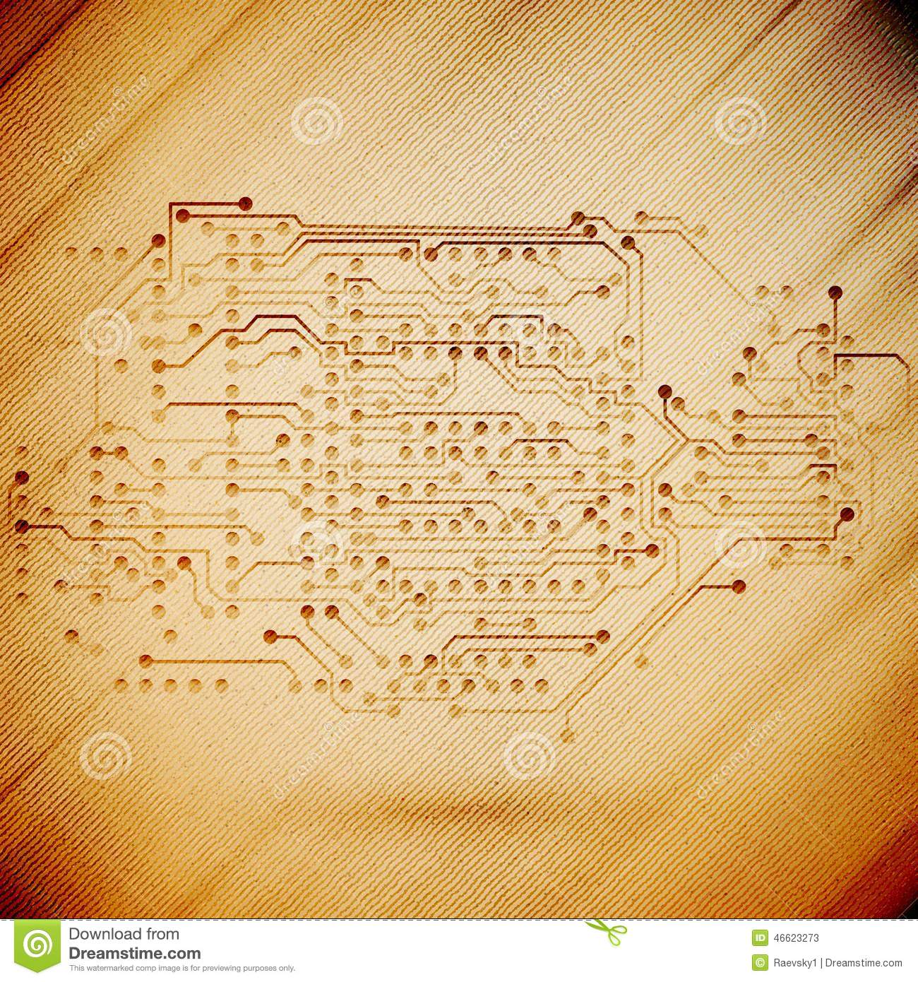 Microchip Background Electronics Circuit Wooden Stock Vector Electronic Design Magazine