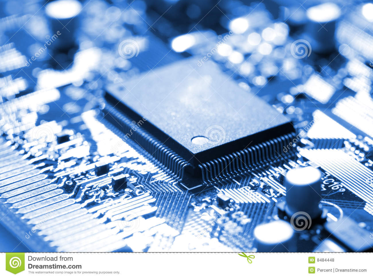 Microchip on circuit board royalty free stock photos for Seaview fishing pier facebook