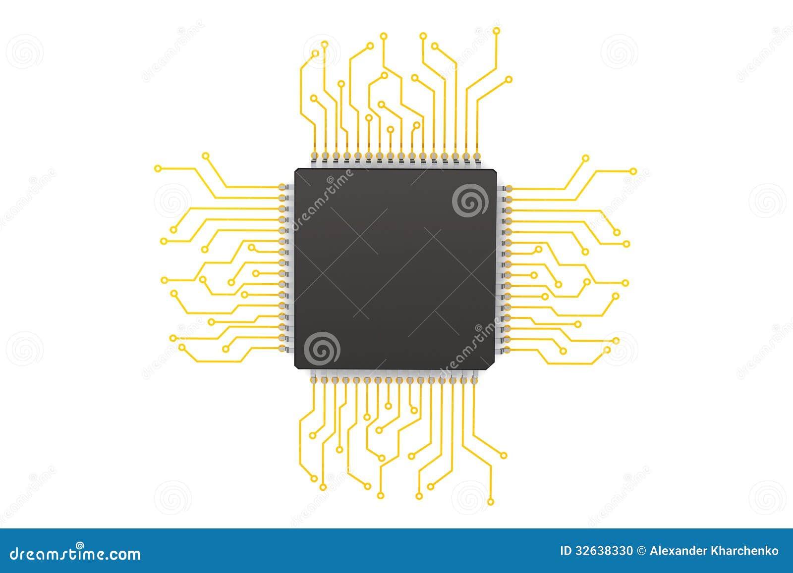 PCB (printed Circuit Board) 16 Stock Illustration - Image: 19205433