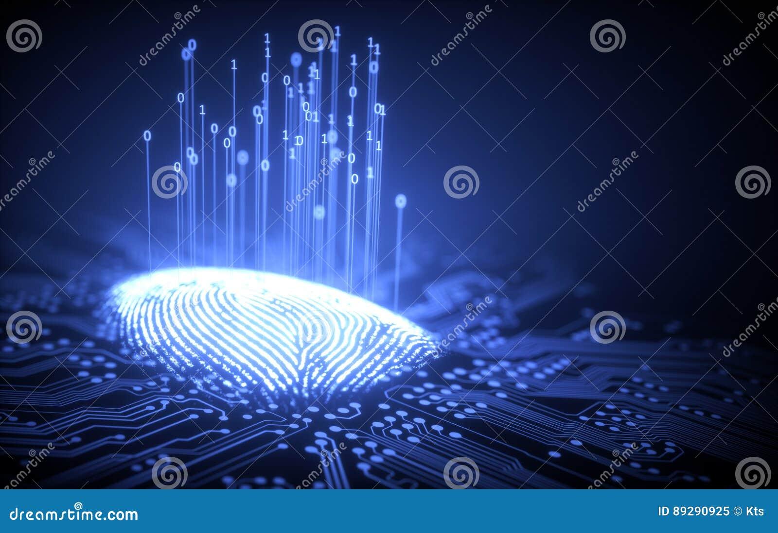 Microchip del binario de la huella dactilar