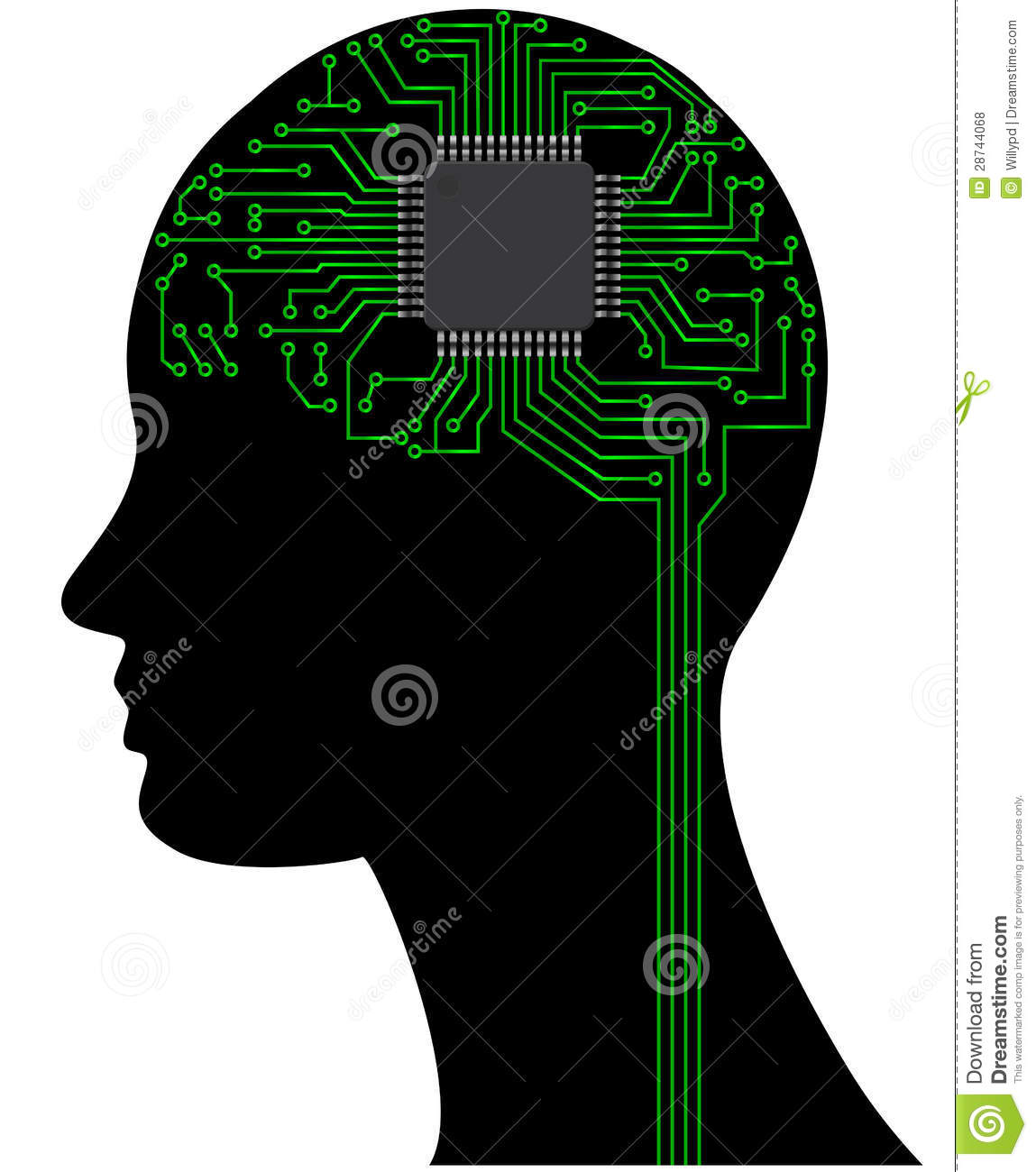 Microchip Head Royalty Free Stock Photos Image 28744068