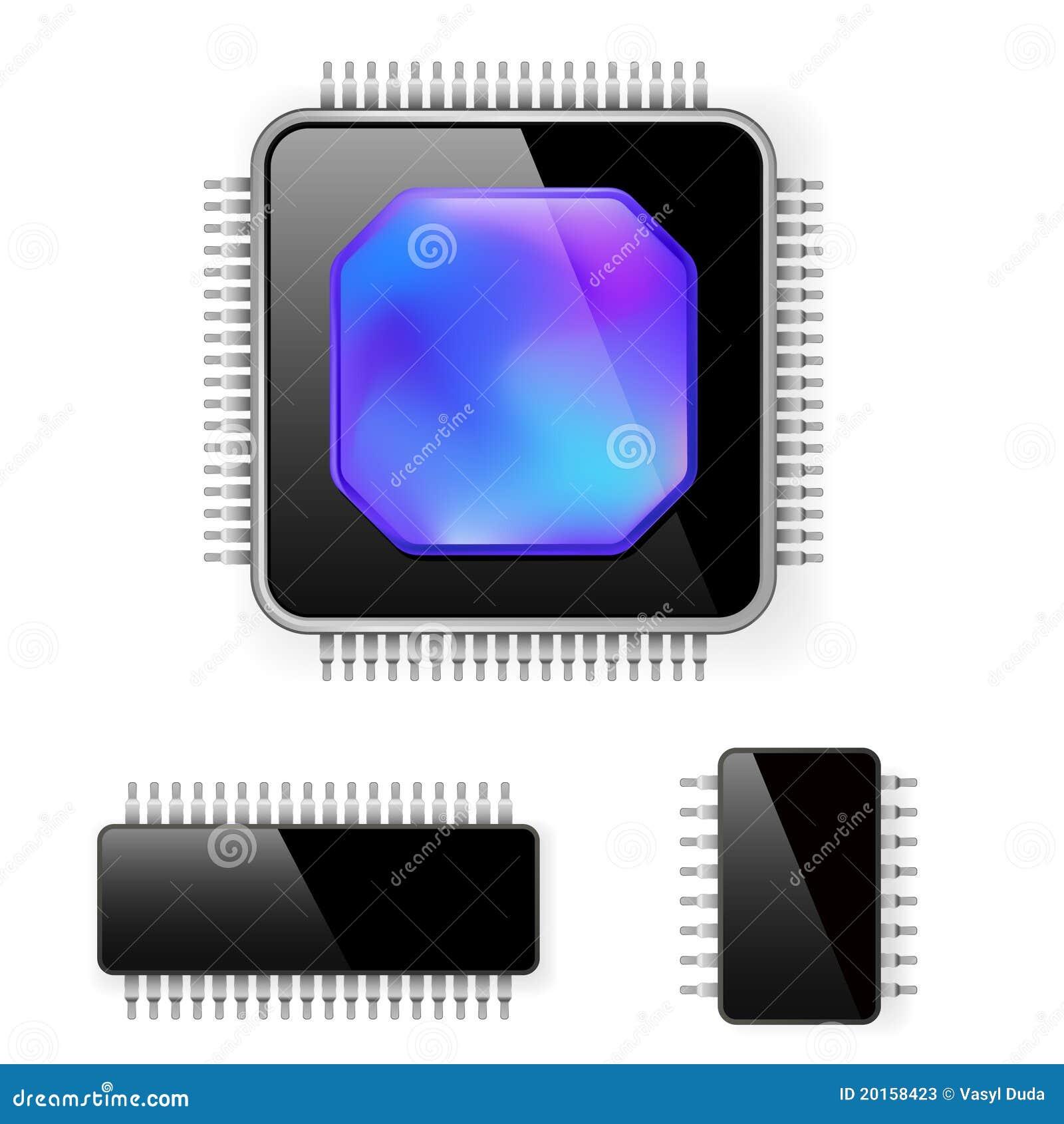 Microcircuito del ordenador