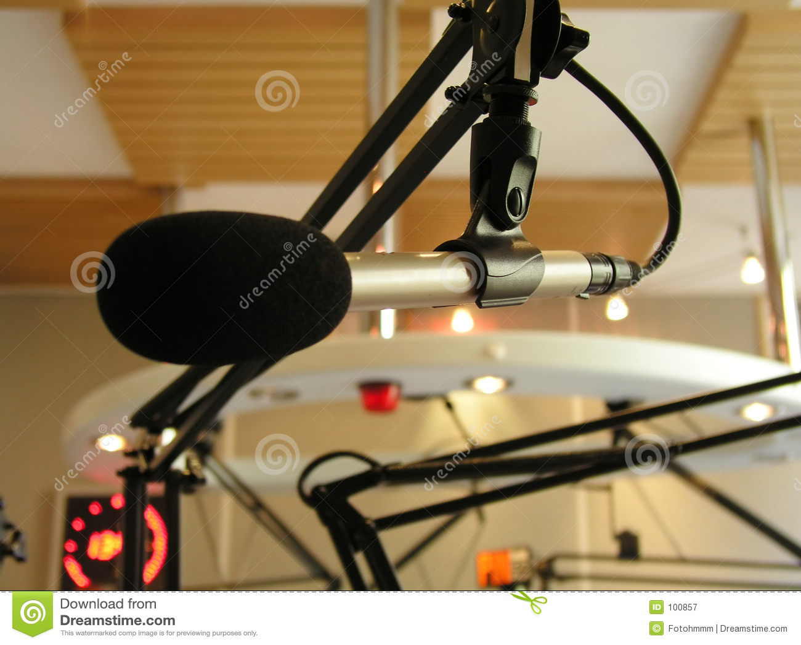 Microfone da transmissão