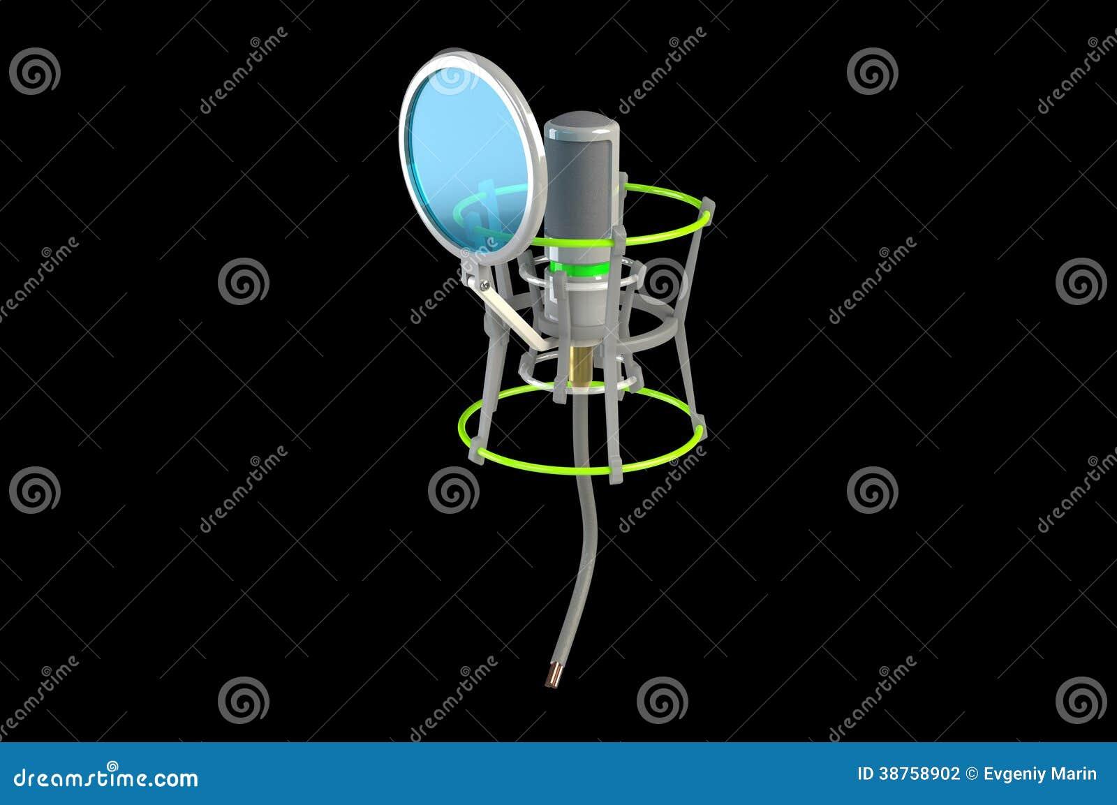 Microfone do estúdio