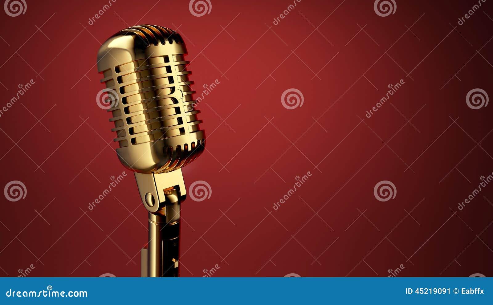Microfone do vintage