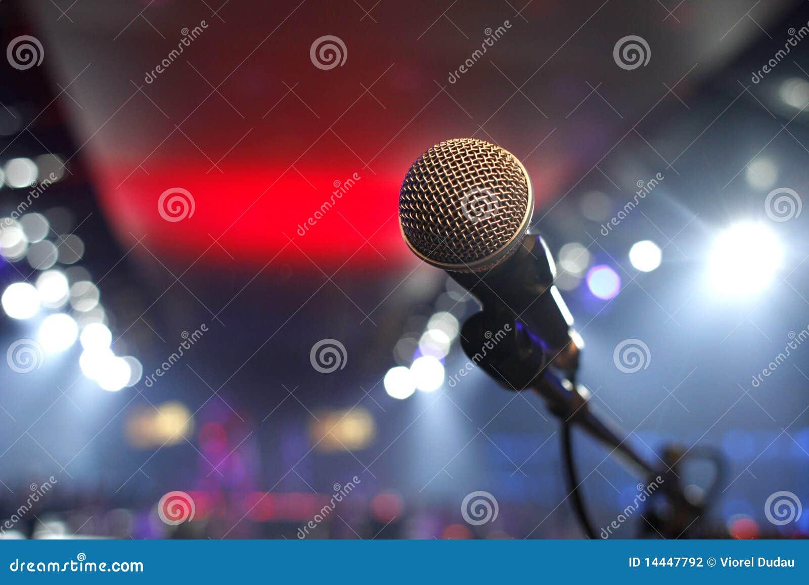 Microfone em um disco