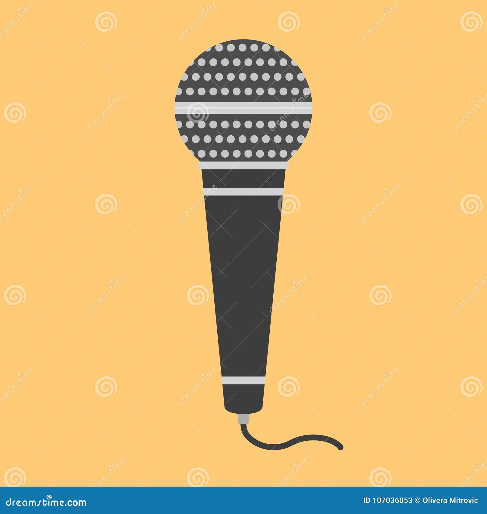 Microfone liso do ícone