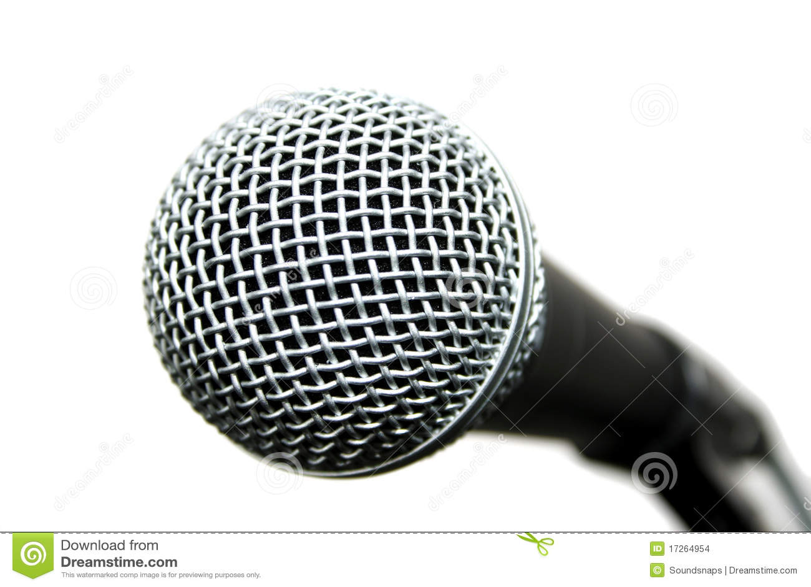 Microfone popular do vocalista