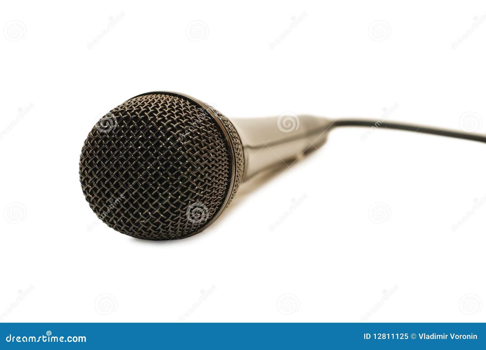 Microfone preto grande