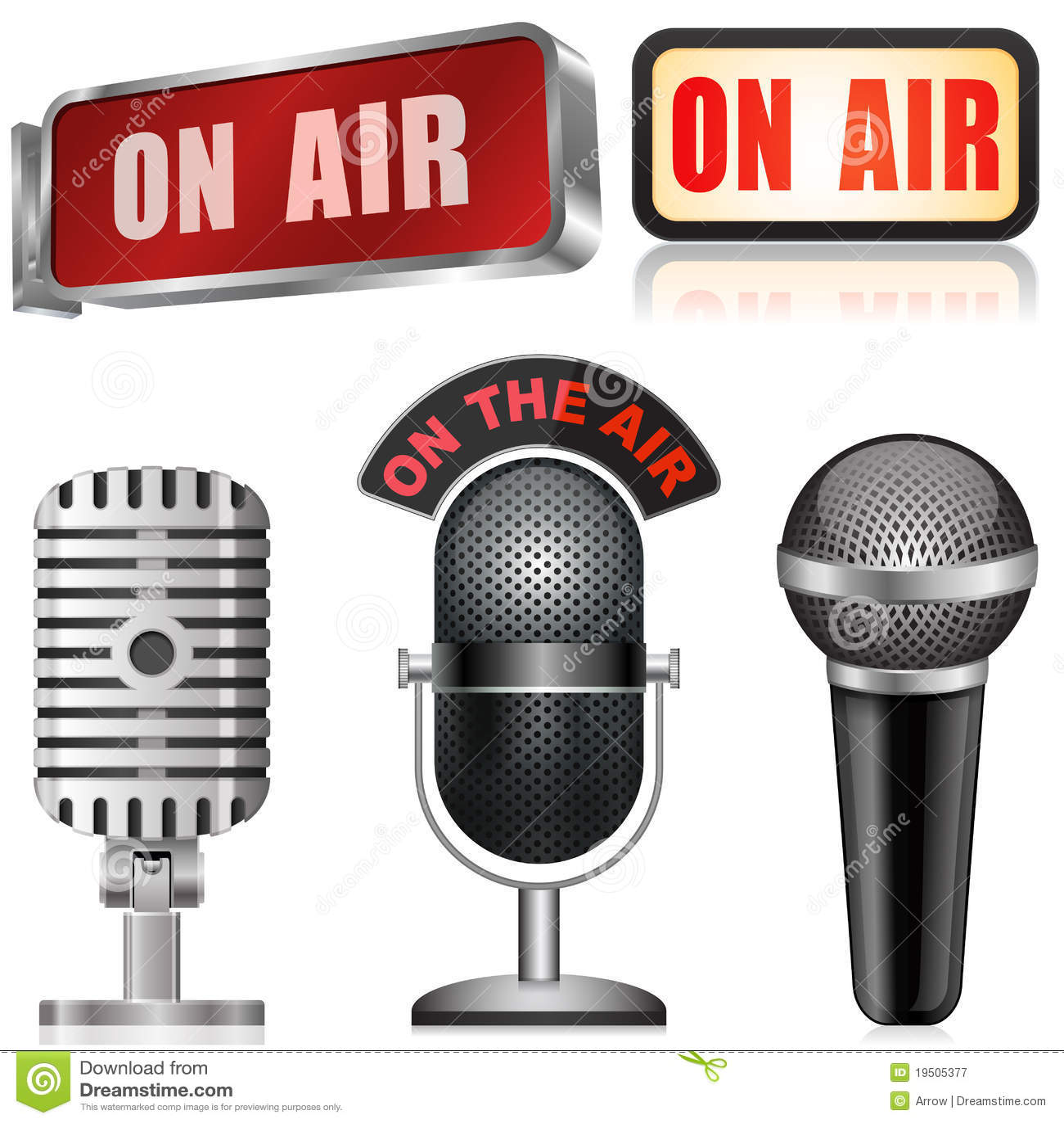 Microfono e sul segno dell aria