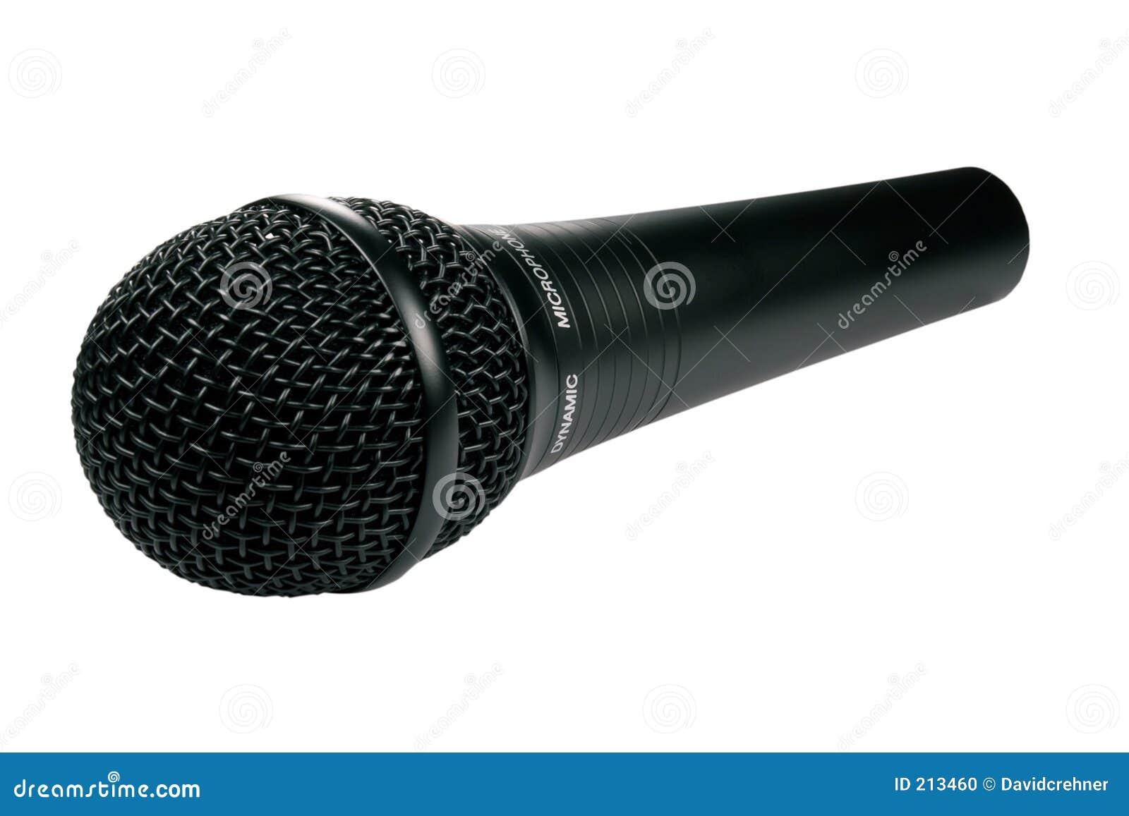 Microfono nero isolato