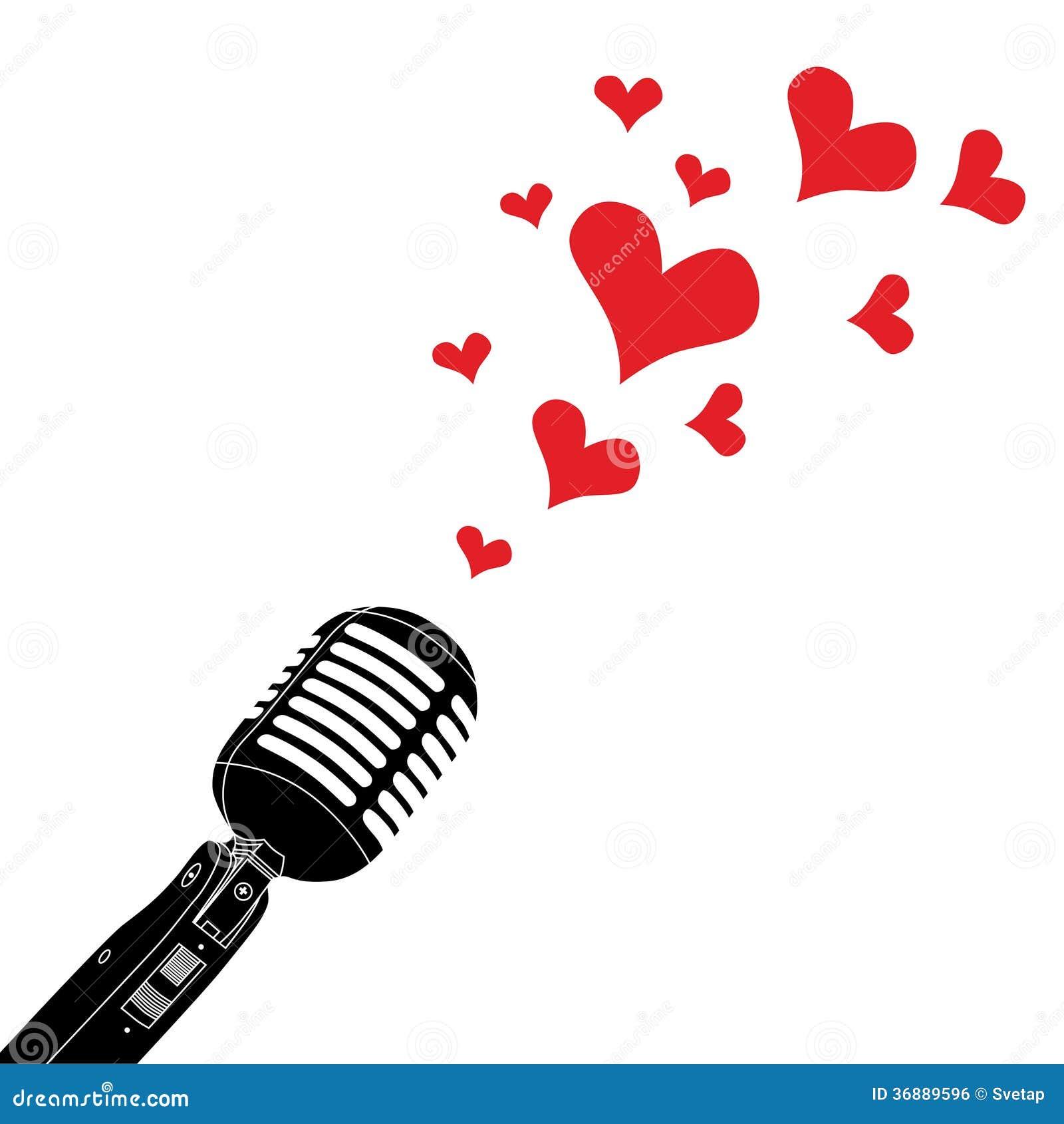 Download Microfono sul supporto illustrazione vettoriale. Illustrazione di intervista - 36889596