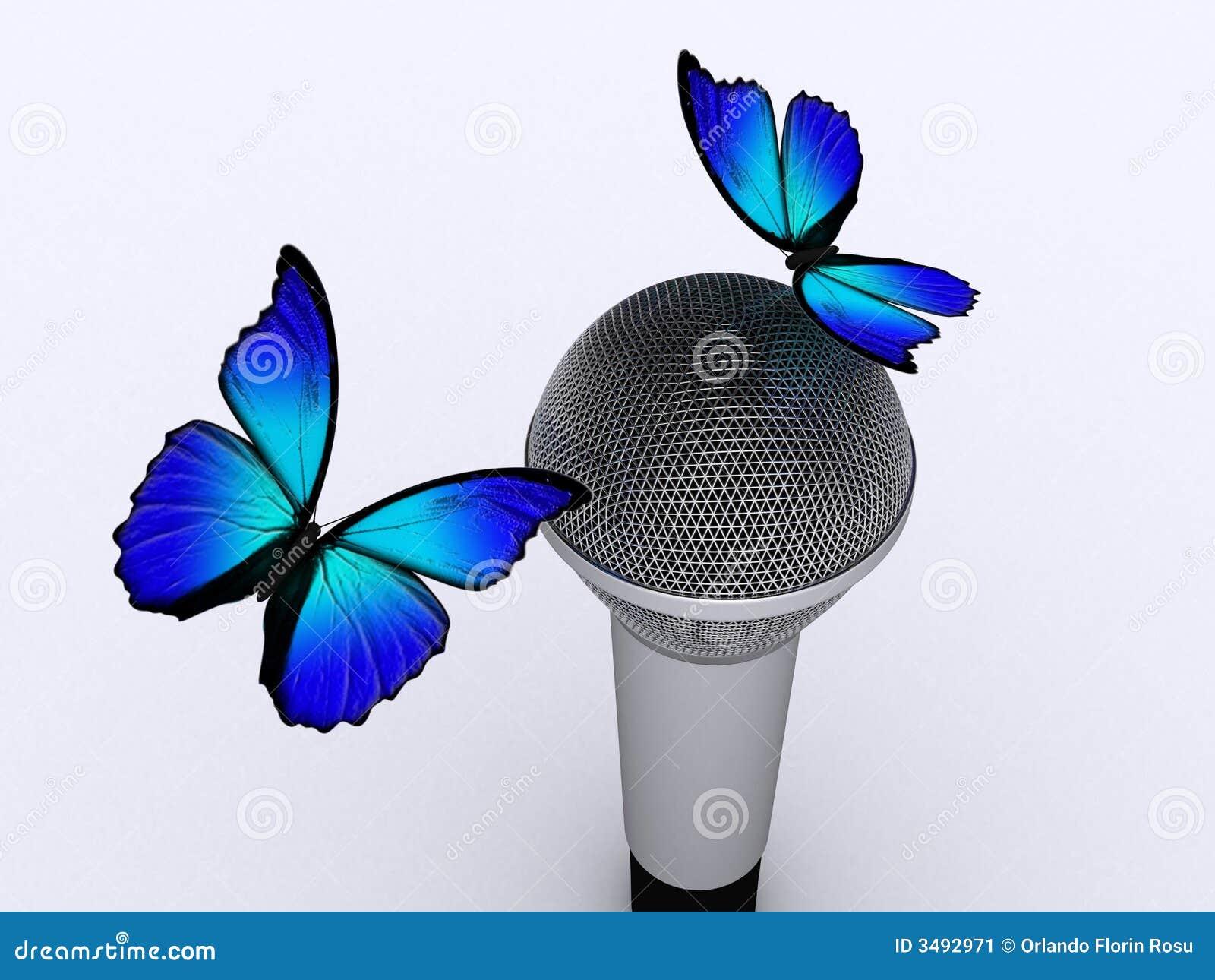 Microfoon en vlinder 2