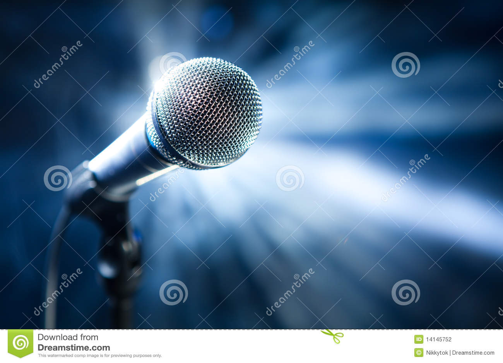 Microfoon op stadium