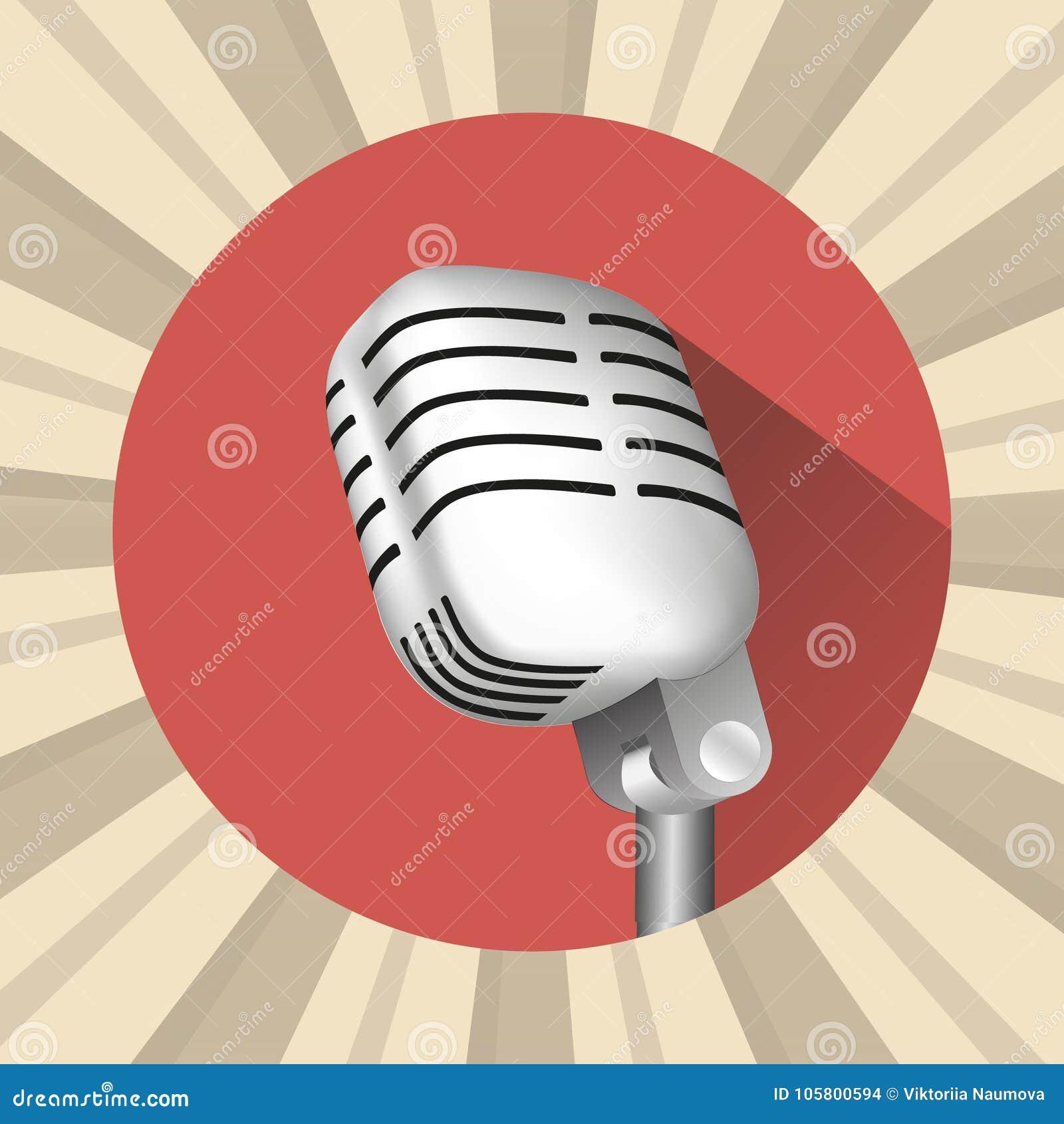 Microfoon uitstekend pictogram