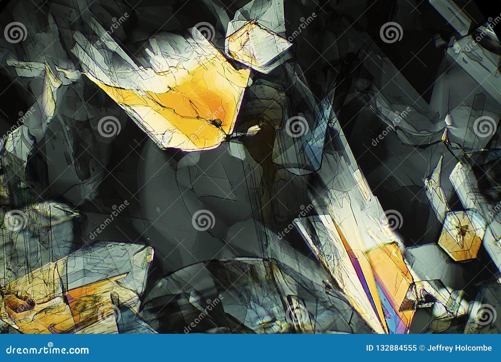 Micrographe abstrait de la méthionine, un acide aminé, à 40X