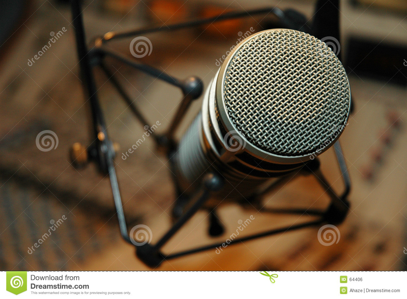 Download Microphone photo stock. Image du radio, microphone, télévision - 64406