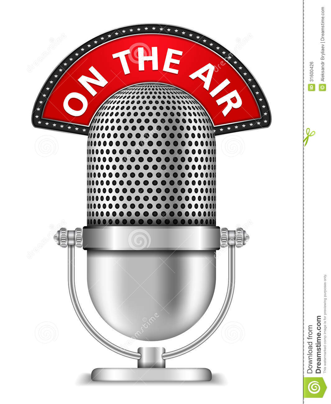 Microphone On The Air stock vector. Illustration of radio ...