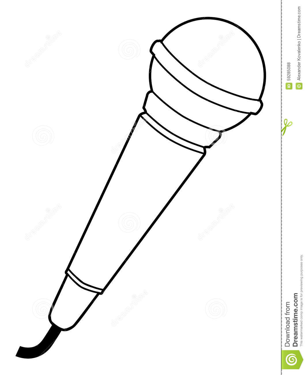 microphone sketches sketch coloring page