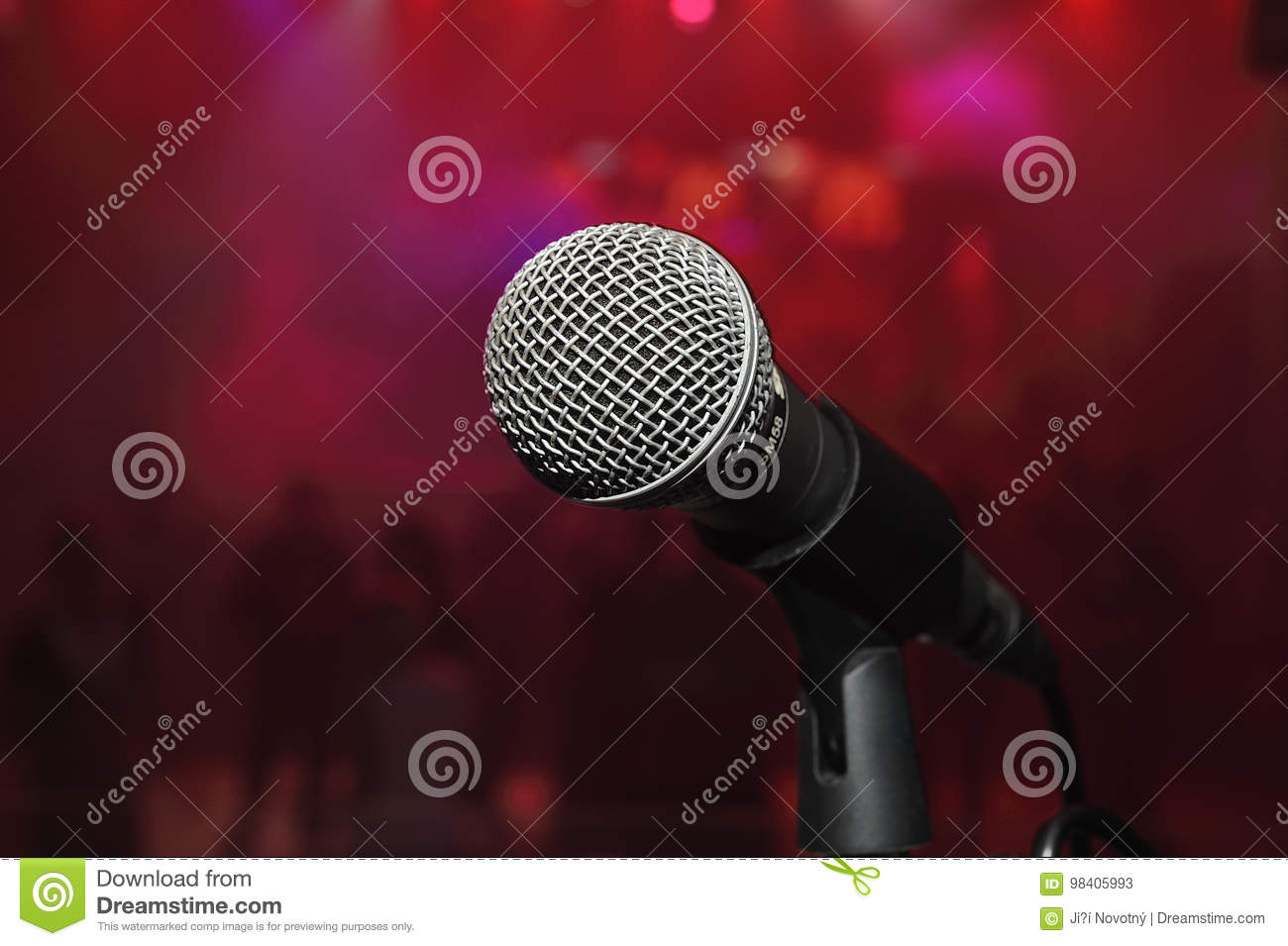 Microphone stock image  Image of background, disco, studio - 98405993
