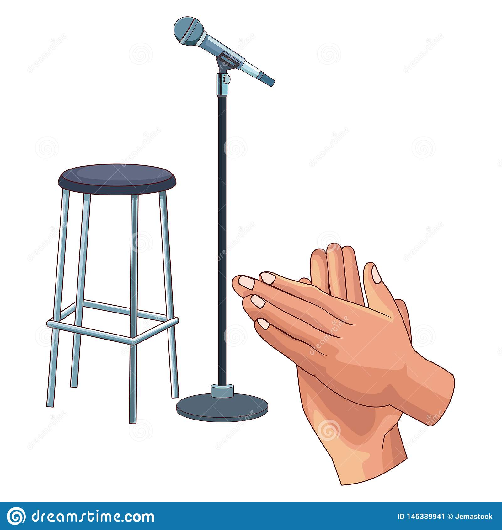 Microphone and chair