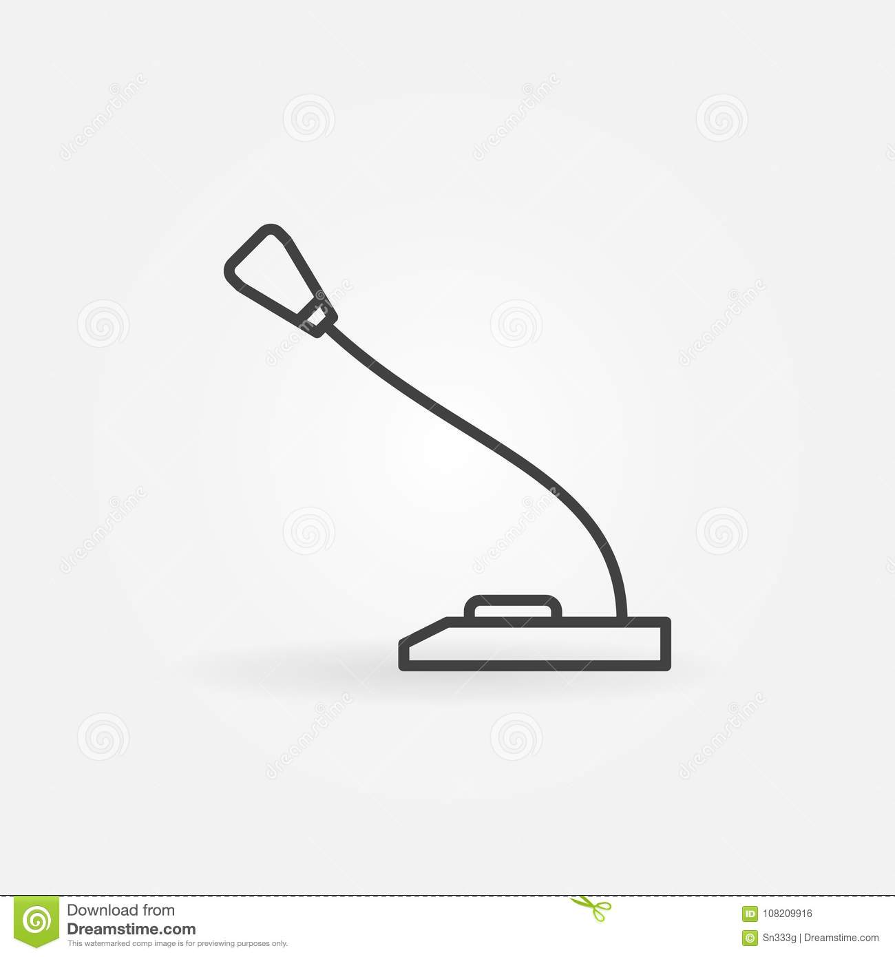 Microphone concept outline icon. Vector mic symbol