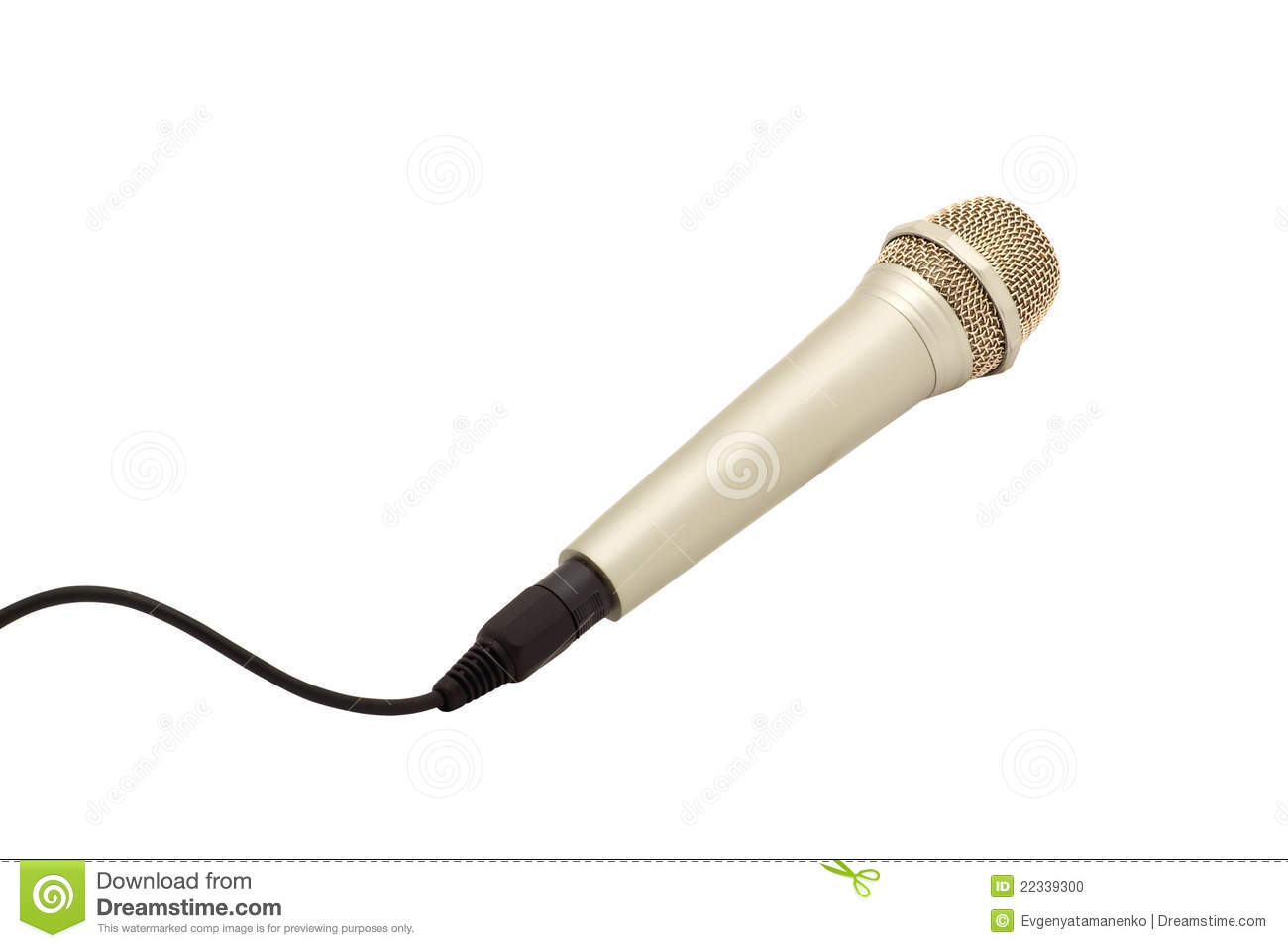 Microphone With Cord : Microphone with a cord stock photo image