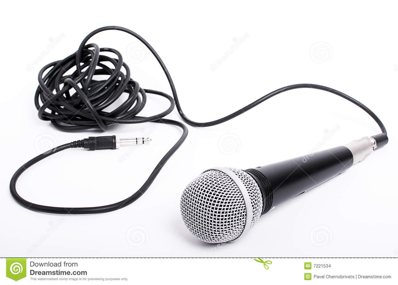 Microphone With Cord : Microphone with cord for lead singer stock images image