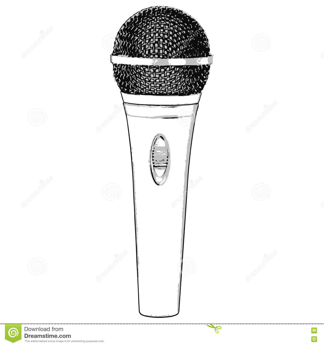 how to draw a microphone step by step easy