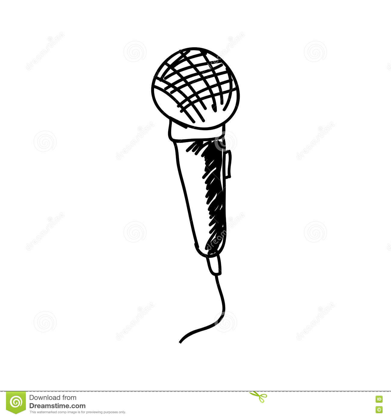 retro microphone drawing stock images