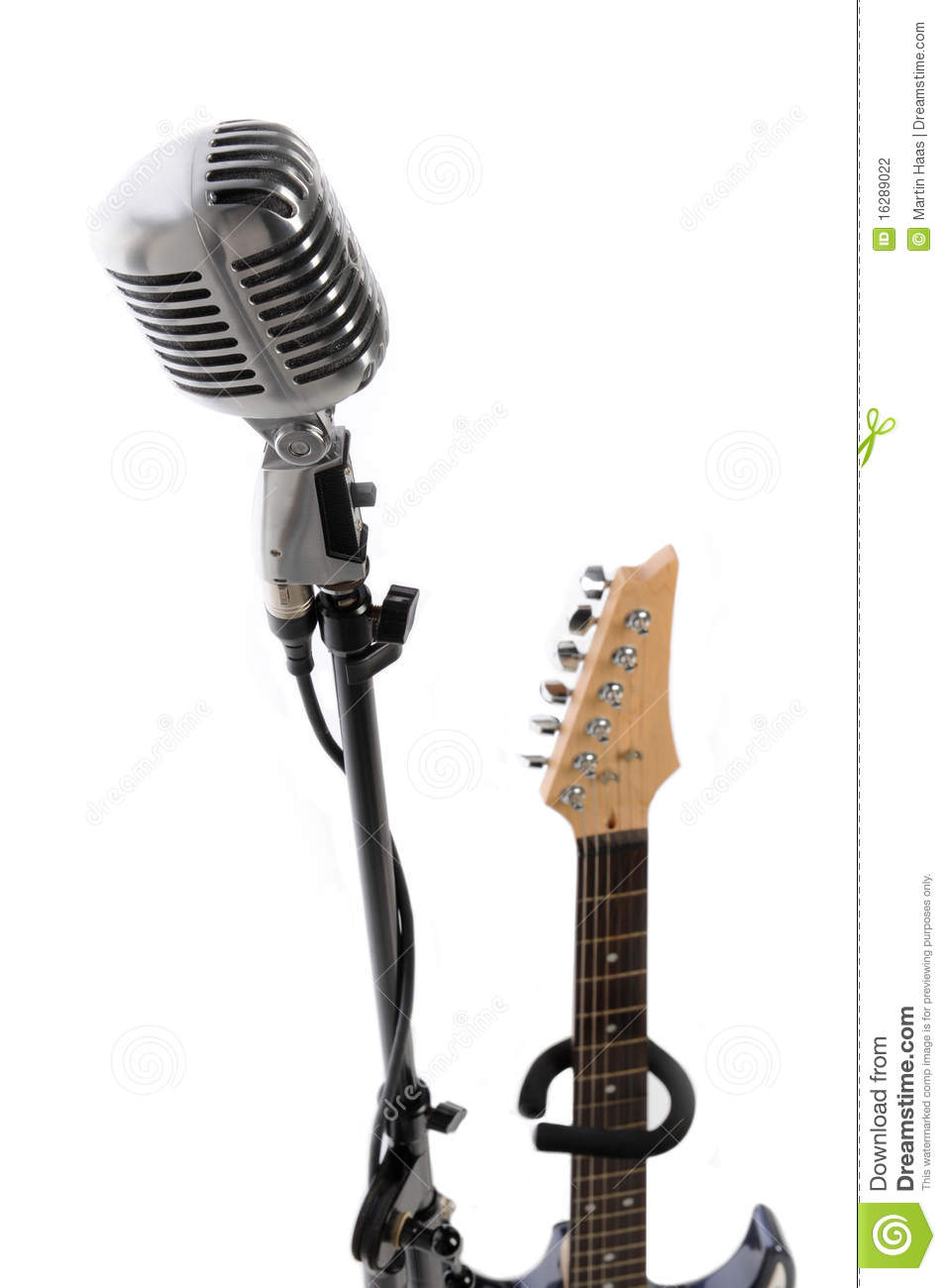 microphone and electric guitar stock photo image of chrome record 16289022. Black Bedroom Furniture Sets. Home Design Ideas