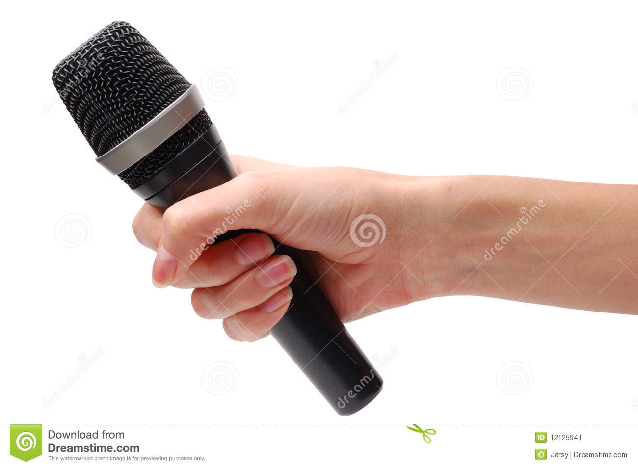 Microphone In Hand : Microphone in hand stock image