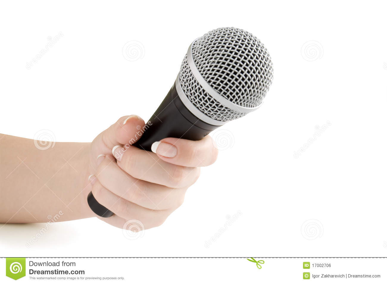 Microphone In Hand : Microphone in hand royalty free stock image