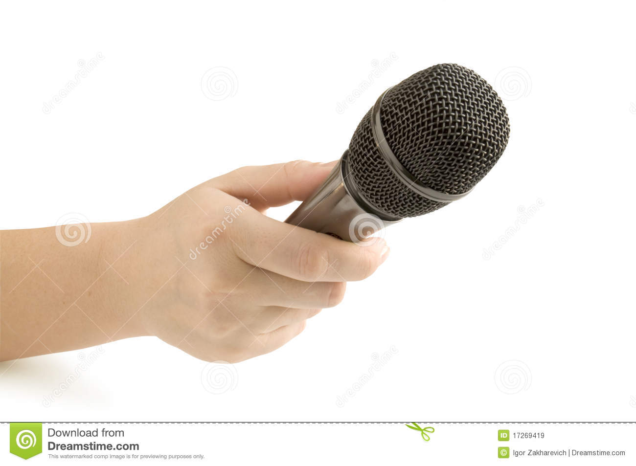 Microphone In Hand : Microphone in hand royalty free stock images image
