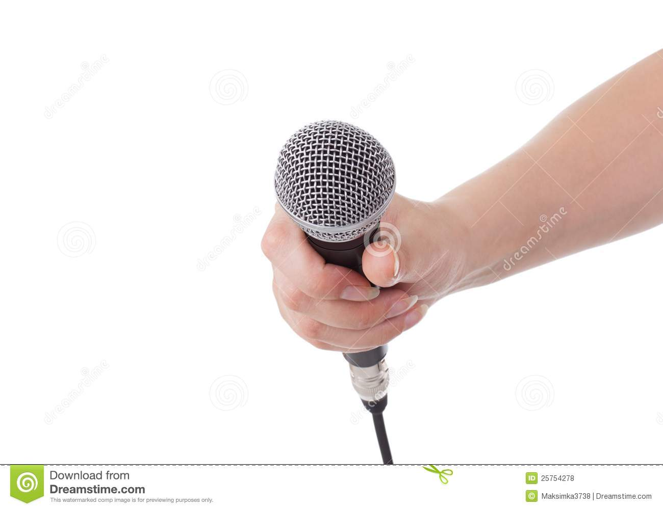 Microphone In Hand : Microphone in hand royalty free stock photos image