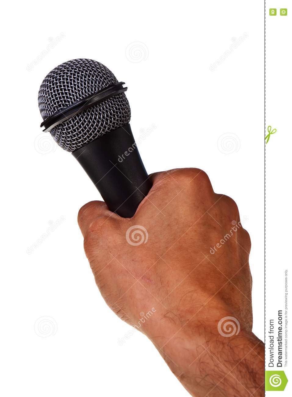 Microphone In Hand : Microphone hold in male hand stock photos image