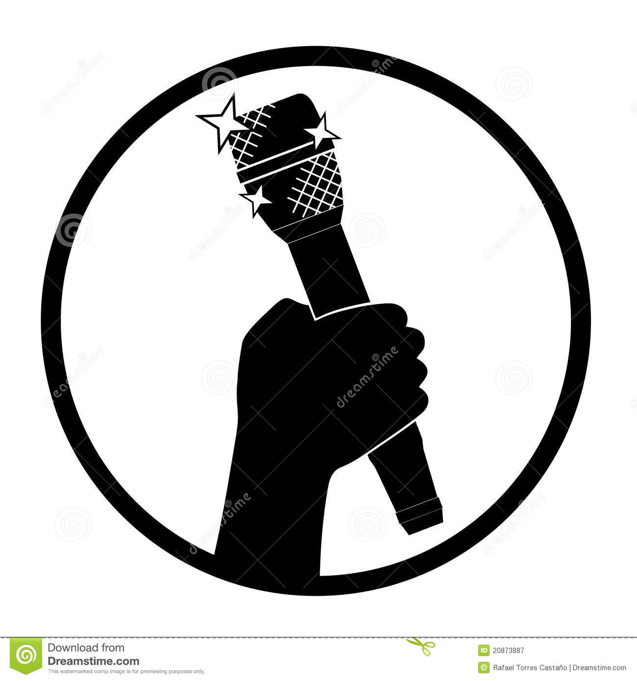 Microphone Icon Royalty Free Stock Photography