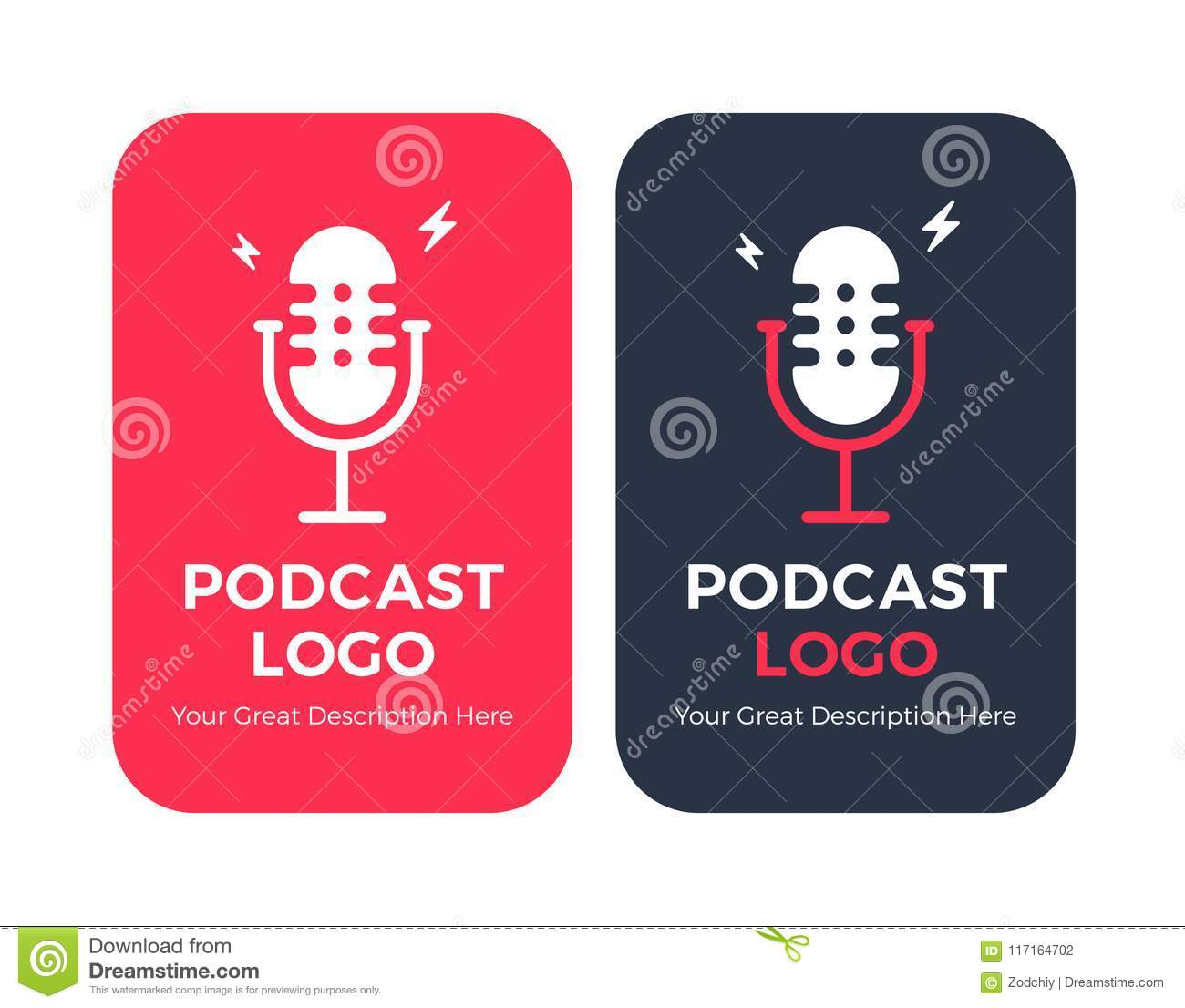Microphone Icons Copy Stock Vector Illustration Of Background