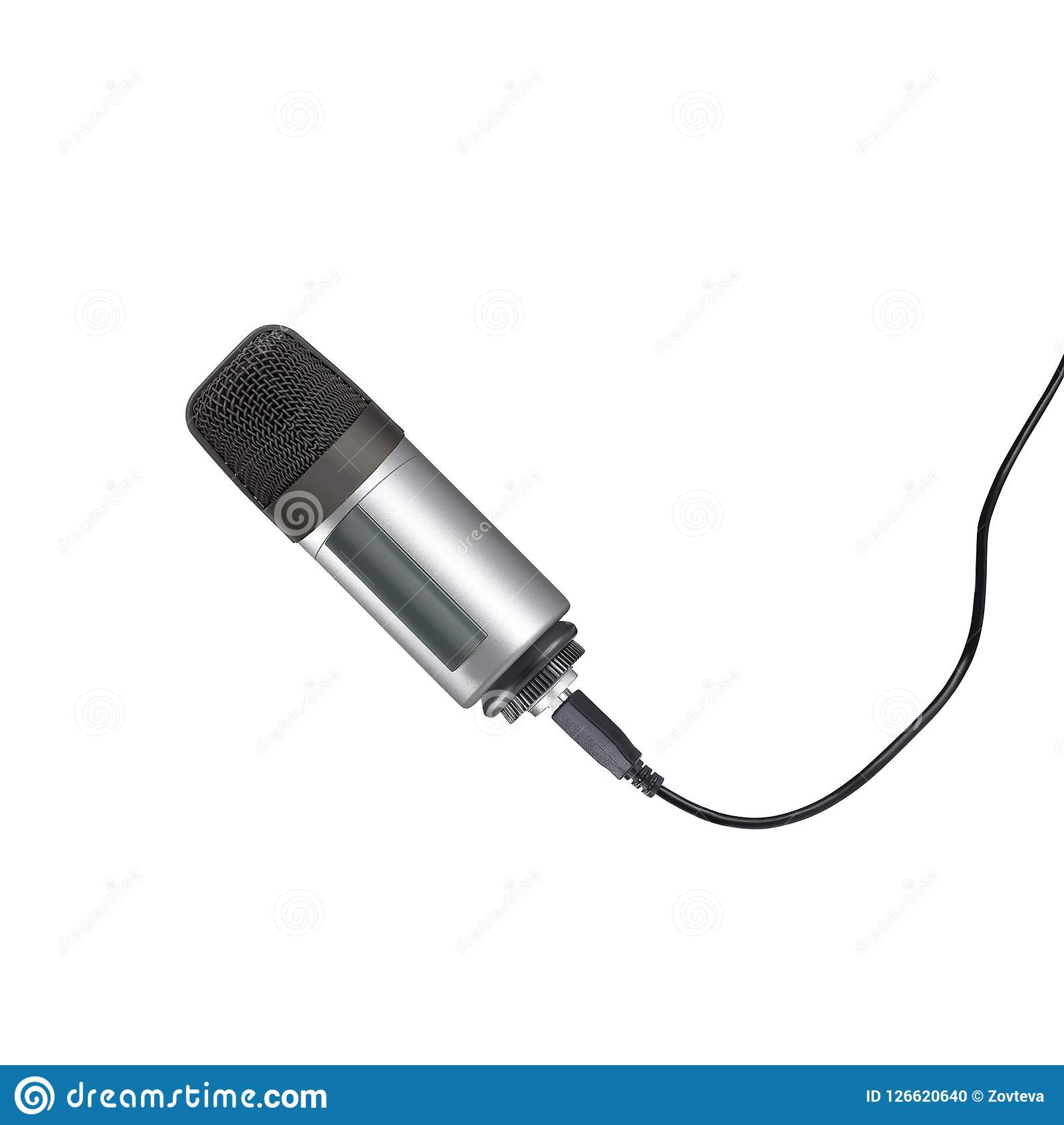 Microphone isolated on the white
