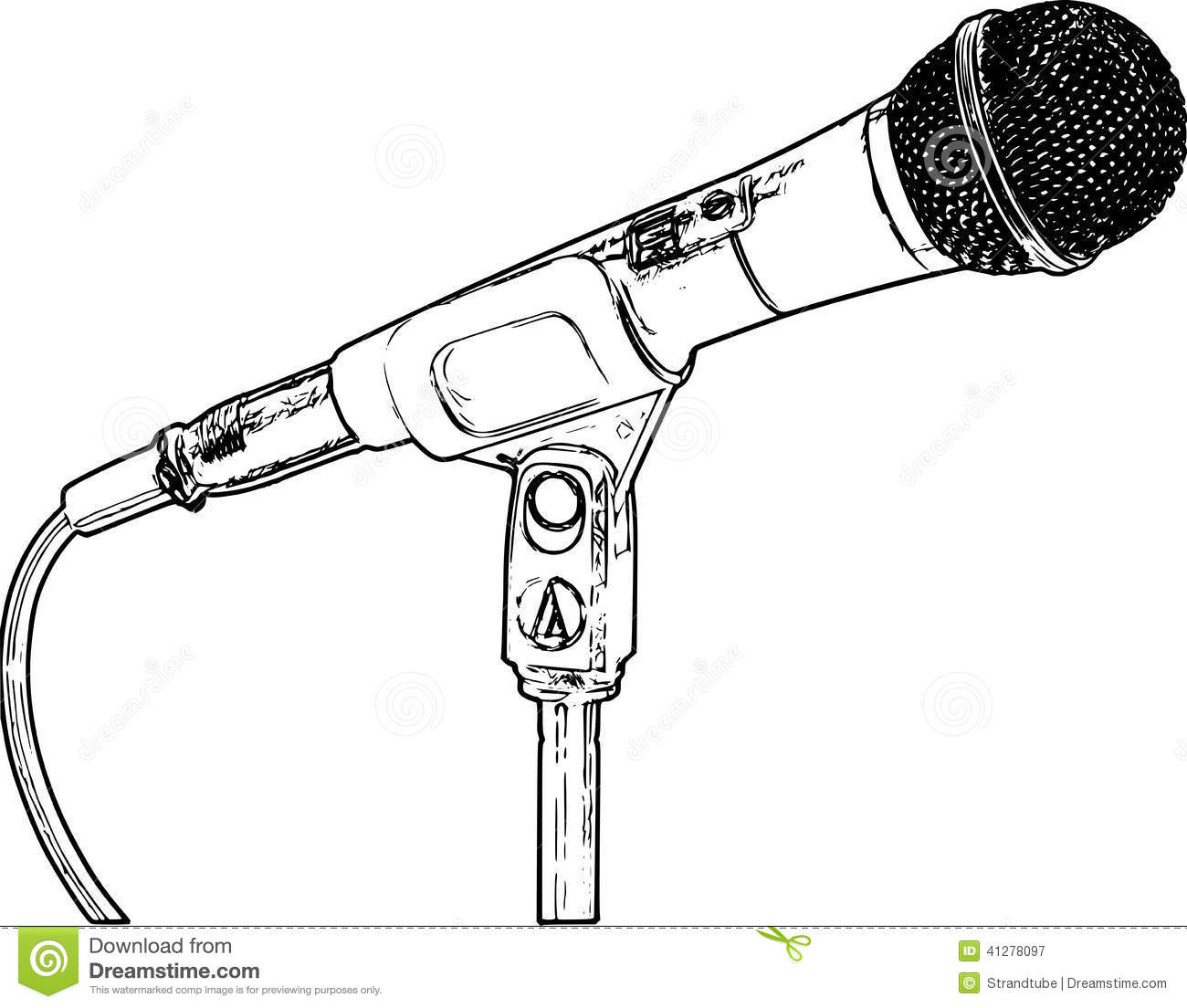 Line Art Microphone : Royalty free stock photography microphone image