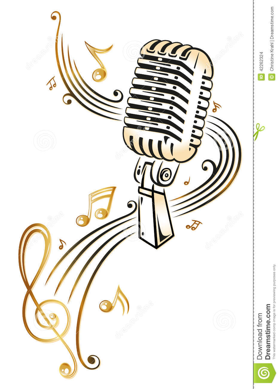 Microphone Music Stock Vector Illustration Of Classical 42262324