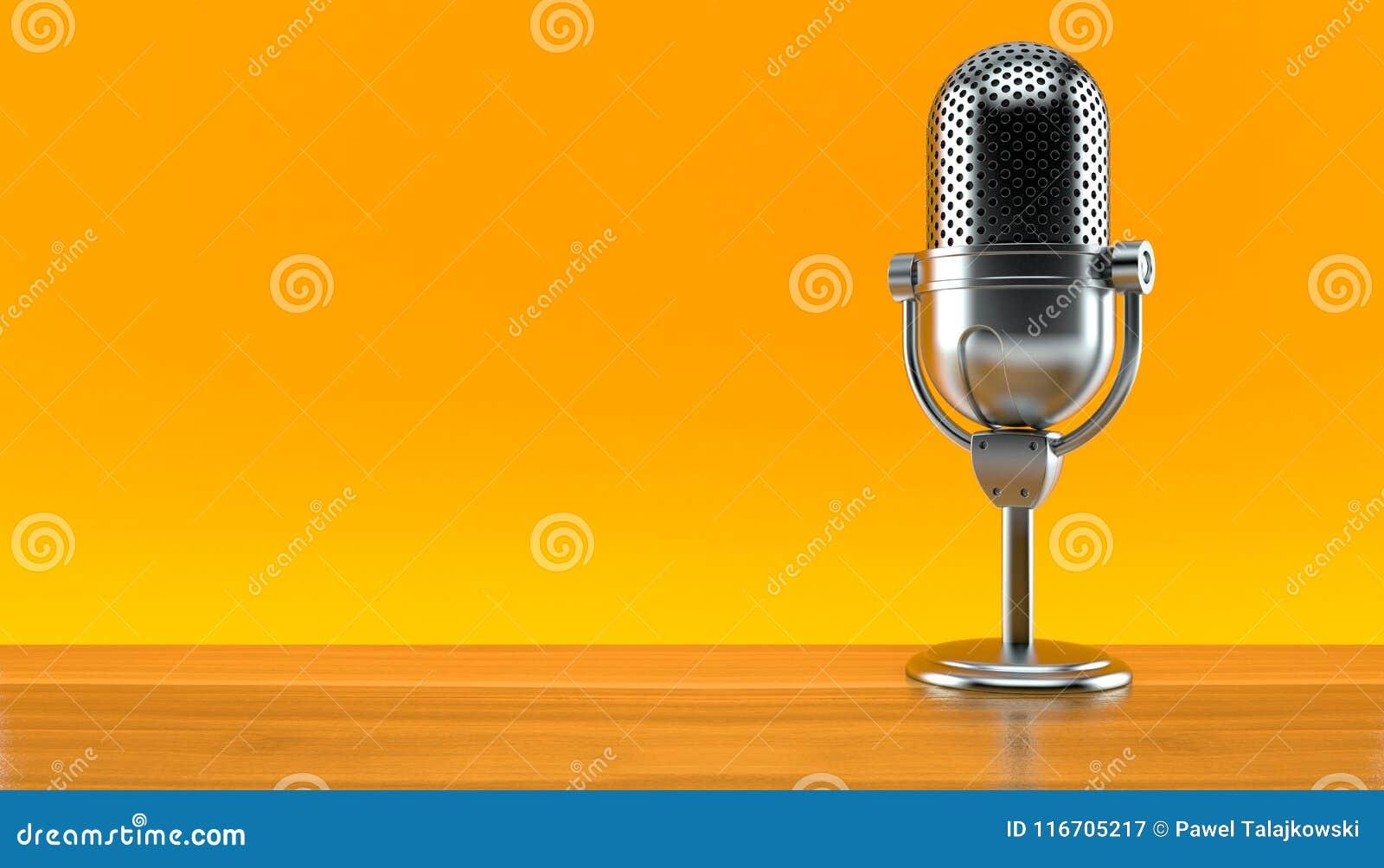 Microphone par radio