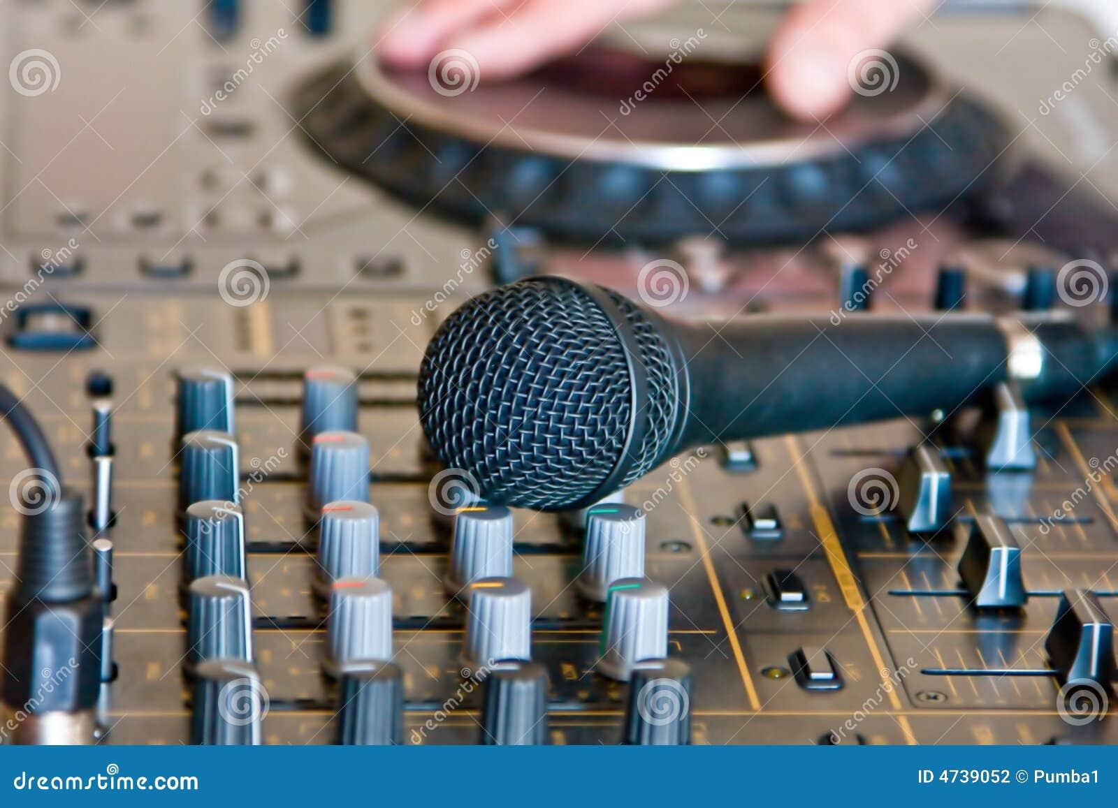 Microphone On Soundboard Dj Stock Photography Image 4739052